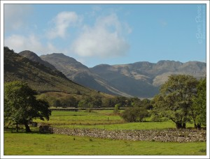 We had some fabulous glorious weather in the Lakes in September.  We rarely see the Langdales this clearly.