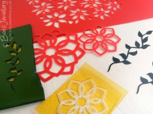 I've been creating vector drawings for stencils and making photo polymer texture plates.