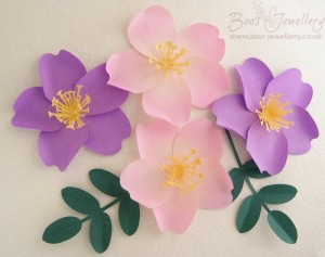 Wild roses come in a wide range of colours, but I think the pale pink with tinted petals are my favourite.