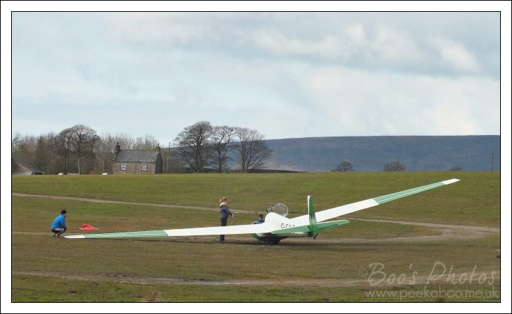Glider being prepped for take off.  This two-seater is one of the craft I am likely to fly in.