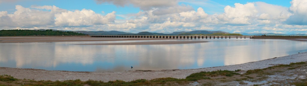 The bay at Arnside just before a very high bore tide. The weather deteriorated with the tide, so although the water looked better, the sky didn't.