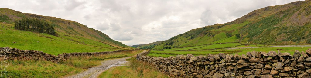 A walk at the end of the Longsleddale Valley, heading towards Sadgill. 4 landscape frames stitched.
