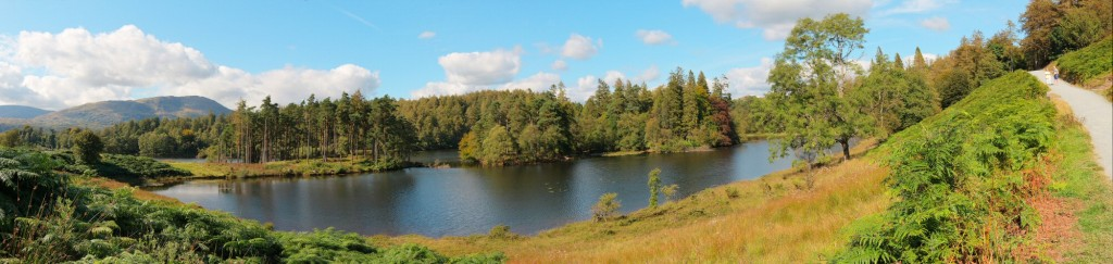 Tarn Hows on another fabulously clear and bright day. Even when it#s crystal clear elsewhere, there always seems to be clouds in view here.