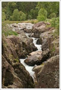The waterfall in the river Duddon at Birks Bridge.