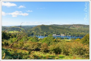 The Lakeside end of Windermere taken from the base of Gummer's How on a spectacularly clear day.