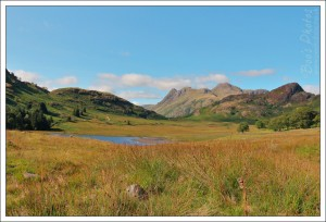 Blea Tarn and the Langdales were crystal clear and glorious.