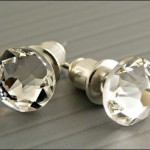 Swarovski Elements crystals (natural clear crystal colour) and surgical steel post earrings.