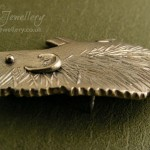 Brooch pin (with embedded pin back) in Antarctic Moonlight, of my favourite little hedgehog.