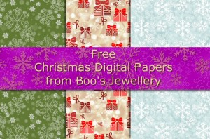 Free collection of 3 high resolution digital paper designs with a Christmas theme.