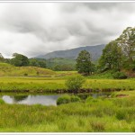 The walk along Elterwater in the English Lake District. It just started raining, so I snatched a quick photo.