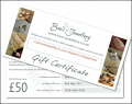 Gift Certificate - choose your value from £10