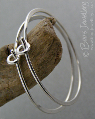 Simple Sterling silver loop earrings